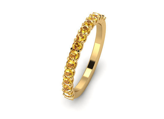 Natural Fancy Intense Yellow Diamonds Band