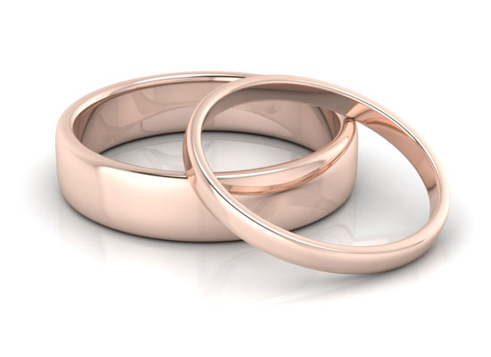 Rose Gold Spencer Wedding Ring